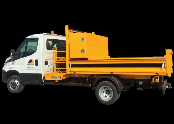 camion benne compresseur