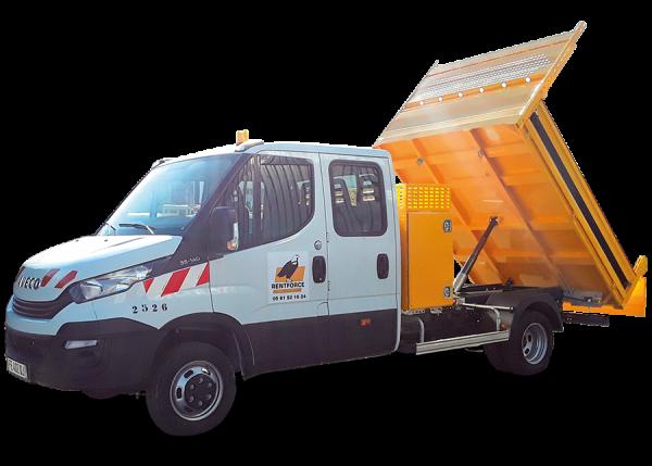 camion bicabine benne coffre